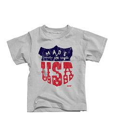 Look at this Silver 'Made in the USA' Tee - Toddler & Boys on #zulily today!