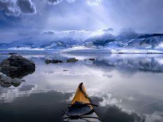 Kayaking the polar seas #kayak #kayaker #kayaking