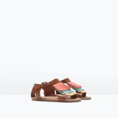 LEATHER SANDALS WITH FRINGES-Baby girl-SHOES & BAGS | ZARA United States