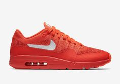 wholesale dealer 06254 12dca Nike Air Max 1 Ultra Flyknit Bright Crimson Bright Crimsonuniversity  Rood-wit Schoenen