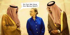 It looks Hillary is no more the best friend of Saudi Arabia...! #Rapport #Analyse #USA #Politic #US #America #Hillary #Clinton #Saudis