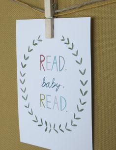 nursery art - read baby read