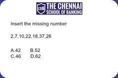 Number Series #thechennaischoolofbanking