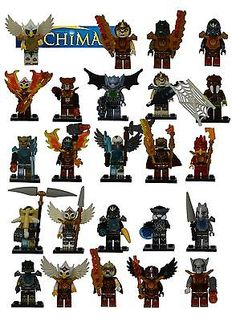 24 PCS Chima Series Minifigures building toys fit lego all new in bags