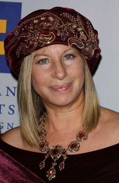 Barbra Streisand Turban - Barbra Streisand topped off her outfit with a beaded embroidered velvet turban when she was honored with the Humanitarian Award.