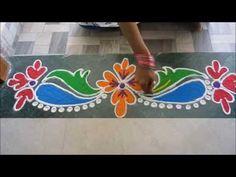 Simple Sanskar bharati rangoli by Priyanka Terde Rangoli : Different style - YouTube