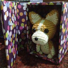 #corgi #corgipuppy in a #box #giftbox #gift #gifts #custom #handmade #imaginenationid #onlineshop #indonesia #bonekarajut #boneka #cuties #plushie #amigurumi #amigurumidoll #crochet #crochetaddict #crochetersofinstagram by imaginenationid