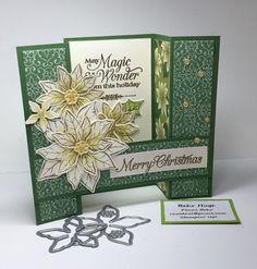 Poinsettia Cards, Christmas Poinsettia, Christmas Holidays, Christmas Greenery, Christmas Catalogs, Holiday Cards, Christmas Cards, Folded Cards, Handmade Christmas