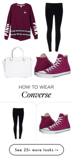 on Polyvore featuring Converse and MICHAEL Michael Kors