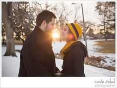 I love the yellow hat with the sun flair!!  Intimate Alfresco Colorado Engagement Photography - Casie Zalud Photographer