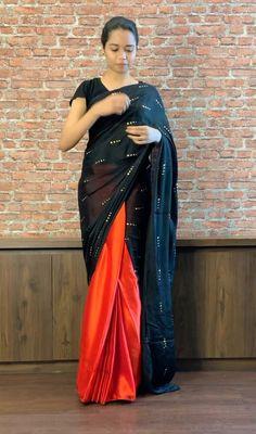 Saree Designs Party Wear, Wedding Saree Blouse Designs, Half Saree Designs, Sari, Lehenga Saree Design, Designer Party Wear Dresses, Event Dresses, Designer Wear, Stylish Dress Designs