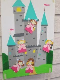 Pin the princess on the castle