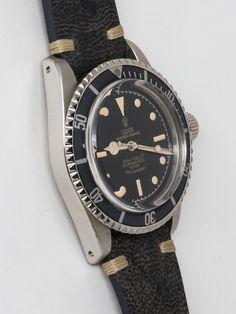 Tudor Stainless Steel Submariner Wristwatch Ref 7928 | From a unique collection of vintage wrist watches at https://www.1stdibs.com/jewelry/watches/wrist-watches/