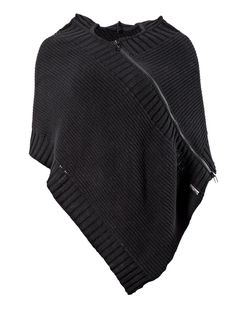 Knit gothic style poncho with zipper by Queen of Darkness