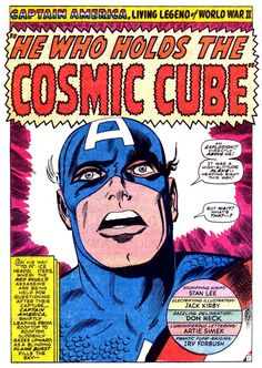 He Who Holds The Cosmic Cube - Captain America Splash Page by Jack Kirby Old Comic Books, Comic Book Pages, Comic Book Artists, Comic Book Covers, Comic Artist, Jack Kirby Art, Marvel Comics Superheroes, Marvel Avengers, Tales Of Suspense