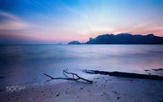 Sunset in Krabi - Andaman sea before sunset. Beautiful place. Krabi, Thailand