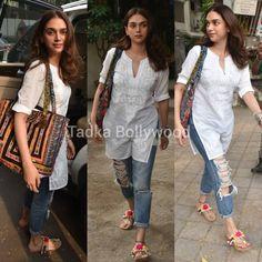 Bollywood Outfits, Bollywood Fashion, Bollywood Saree, Simple Kurti Designs, Kurta Designs Women, Indian Designer Outfits, Indian Outfits, Casual College Outfits, Pakistani Fashion Casual
