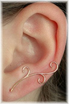 Vine-y ear pins