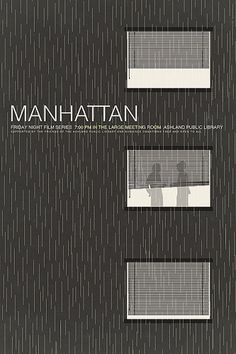 Another Woody Allen movie, Manhattan, gets an update from graphic designer Brandon Schaefer.