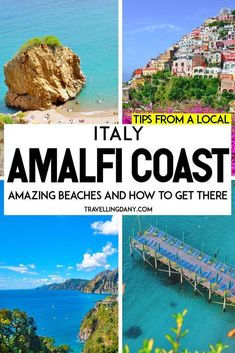 Awesome beaches on the Amalfi Coast! All the best secrets from a local. Learn how to get to the Amalfi Coast, where you should eat, the easy-to-reach beaches and the hidden coves! | #amalficoast #italytravel