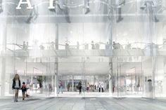kazuyo sejima and ryue nishizawa of pritzker prize-winning studio SANAA have released plans for the redesign of la samaritaine, paris. Ibaraki, Wakayama, Kanazawa, Building Facade, Old Building, Public Architecture, Architecture Details, Ryue Nishizawa, Planning Permission