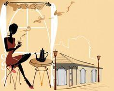 roadside cafes 03 vector