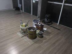 Piso pronto e obra organizada! Coisa linda! #diáriodeobra