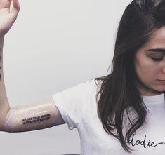 """dodie's new tats. """"Bolder than before, bluer than the sky"""""""