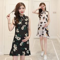 0bcd63ce9 Pregnant women dress summer Korean fashion sleeveless chiffon shirt tidal  mother pregnant women skirt #Affiliate