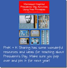 Montessori-Inspired Presidents' Day Activities Using Free Printables February Holidays, Major Holidays, Stop Bullying, Groundhog Day, Presidents Day, Important Dates, Montessori, Free Printables, Homeschool