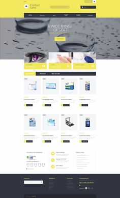 Take a closer look at this Contact Lens Technology PrestaShop Theme ( and you will fall in love with it. Clean, professional and straightforward design. Word Template Design, Quote Template, Ecommerce Web Design, Web Design Software, Lens Store, Lens Logo, Lenses Eye, Optician, Portfolio Website