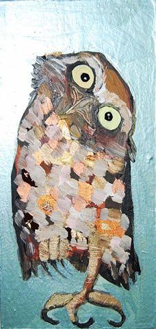 'Tiny Burrowing Owl in Metallic Topaz' by Eli Halpin