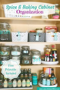 Are you someone who has a completely disorganized spice and baking cabinet? I was one of those people until I finally decided to bite the bullet and do a spice and baking cabinet organization project in my kitchen. Free printable also included. via @lakelifestateofmind