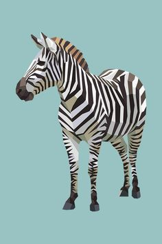 A detailed, geometric lowpoly illustration of a zebra. Zebra Illustration, Illustration Animals, Animal Sketches, Animal Drawings, Zebra Tattoos, Zebra Drawing, Zebra Pictures, Zebra Wallpaper, Zebra Art