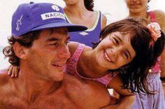 Ayrton Senna with his niece Paula