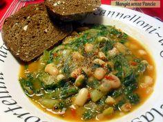 Mangia senza Pancia | Fagioli e scarole accompagnati con il pane o con pochissima pasta: un modo leggero di gustare i fagioli durante la dieta