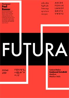 I was ask to design a type specimen for a typeface of my choice. I picked futura and went for style that matched the date of the futura was created. Poster Design Layout, Graphic Design Posters, Graphic Design Typography, Poster Fonts, Typographic Poster, Typography Inspiration, Graphic Design Inspiration, Book Cover Design, Book Design
