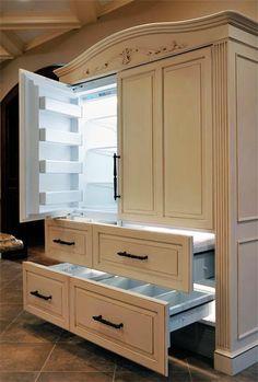 Fancy Refrigerator Armoire  WOW!