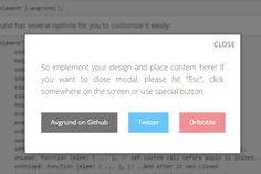 jQuery Plugins for Alert Boxes & Modal Windows