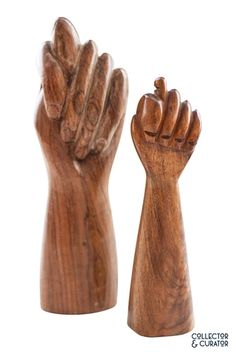 Collector & Curator ~ Products ~ Small MCM Figa Wood Hand Sculpture ~ Shopify Hand Sculpture, Sculptures, Mid Century Modern Design, Mid-century Modern, Wood, Accessories, Products, Woodwind Instrument, Timber Wood