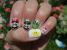 Mario Nails Thumb to Pinky: Star, Mario, Luigi, Yoshi, Toad