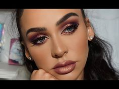 PURPLE METALLIC SMOKEY EYE | Carli Bybel - YouTube