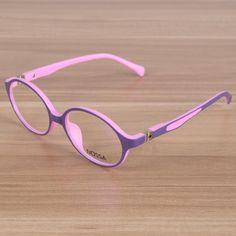 d3b52abdb2a Kids Eyeglasses Children Flexible TR90 Plain Glasses Frame Optical  Prescription Eyewear Frames Girls Boys Pink Round