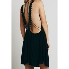 $12.21 Black Sleeveless With Lace Backless Women's Dress