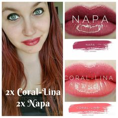 Beautiful combo/layering for these two Napa and Coral-lina Lipsense