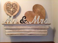 15cm Handpainted Freestanding Wedding by LoveLettersMe on Etsy, £40.00