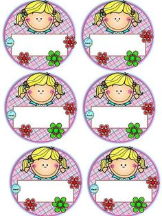Badges for Kindergarten Children - Preschool Children Akctivitiys Classroom Labels, Classroom Bulletin Boards, Classroom Decor, Class Decoration, School Decorations, Pre School, School Days, School Border, School Frame