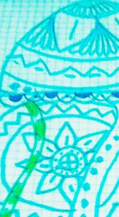 Hola, he hecho este dibujo de una medusa.🐙
