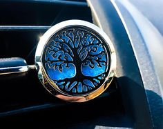 Car Essential Oil Diffuser -Tree of Life, Car Aromatherapy, Car Clip Diffuser, Vent Air Freshener, Essential Oil Diffuser, Stainless Steel