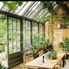Like greenhouse roof on the north side